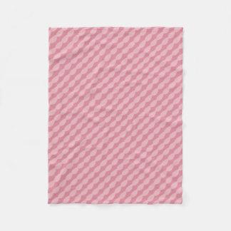 Pink Petal Stripes Fleece Blanket