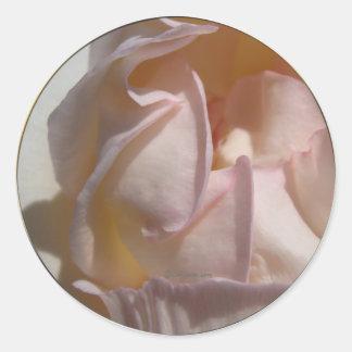 Pink Petals Rose Wedding Envelope Seal Round Sticker
