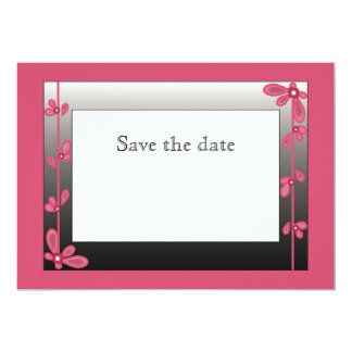 Pink petals save the date cards 13 cm x 18 cm invitation card