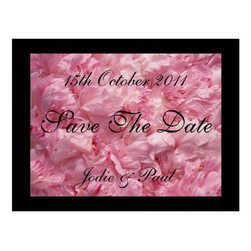 Pink Petals -  Save The Date Postcard