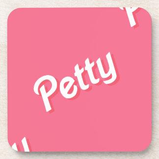 pink petty beverage coasters