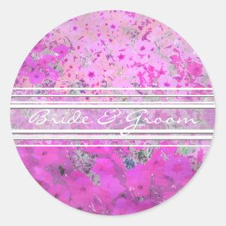Pink Petunia Elegant  Stickers