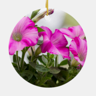 Pink Petunia Passion Ceramic Ornament