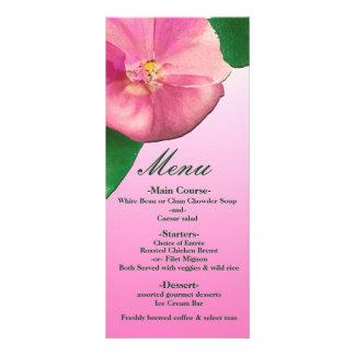 Pink Petunias Elegant Bridal Shower Custom Menu