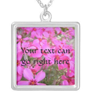 Pink Phlox Flowers Necklace