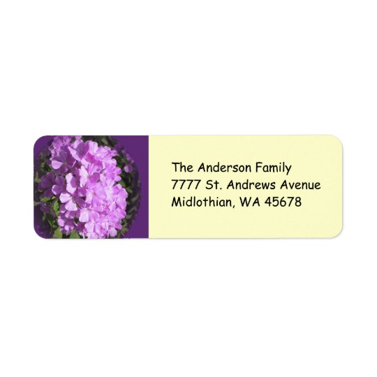Pink Phlox Return Address Avery Label
