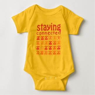 Pink Phone Pattern Staying Connected Amusing Girly Baby Bodysuit