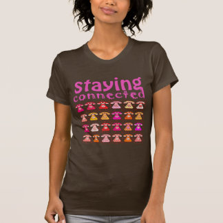 Pink Phone Pattern Staying Connected Amusing Girly T-Shirt