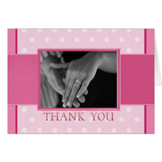 Pink Photo Thank You Card