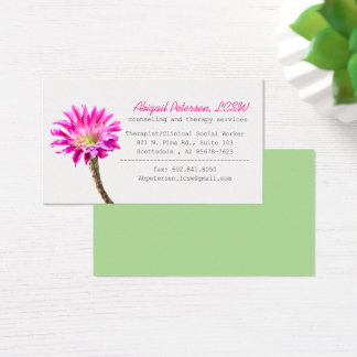 Pink Piazza in bloom ,  LCSW Business Card