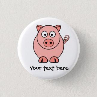 Pink Pig 3 Cm Round Badge