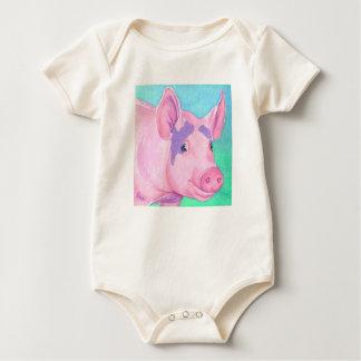 """Pink Pig Baby Shirt  - """"This Little Piggy"""""""