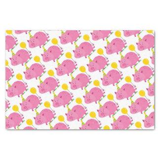 Pink Pig Birthday Tissue Paper