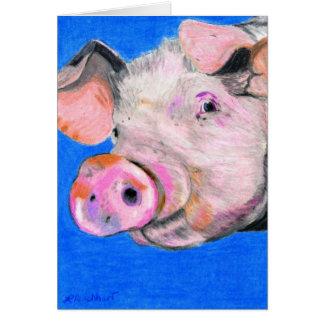 Pink Pig Card