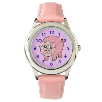 Pink Pig Cartoon Wrist Watch