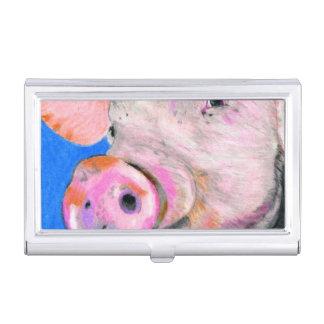 Pink Pig Case For Business Cards