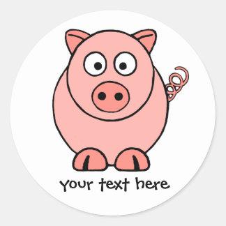 Pink Pig Classic Round Sticker