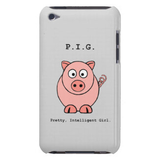 Pink Pig Humour iPod Touch Case