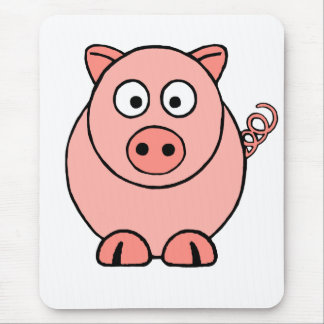 Pink Pig Mouse Pad
