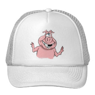 Pink Pig on Customizable Products Cap