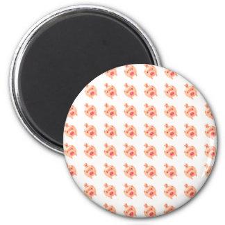 Pink Pig Pattern 6 Cm Round Magnet