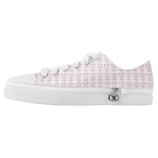 Pink Pig Pattern Low Tops
