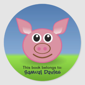 Pink Pig Personalised Name Labels