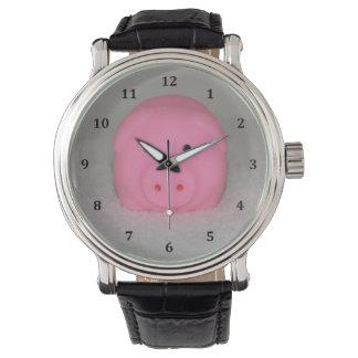 Pink Pig Piggy Wristwatch