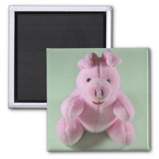 Pink pig toy fridge magnet