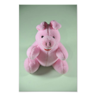 Pink pig toy photo print