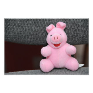 Pink pig toy photo