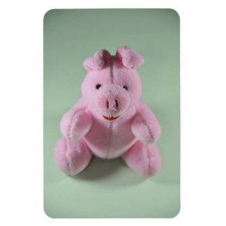 Pink pig toy flexible magnets