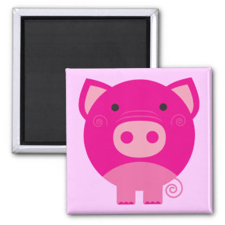 Pink Pig Tshirts and Gifts Magnet