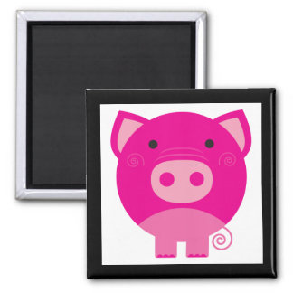 Pink Pig Tshirts and Gifts Magnets