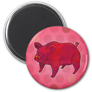 Pink Pig with Dot Magnet