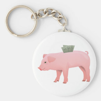 Pink Piggy Bank Keychain
