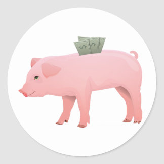 Pink Piggy Bank Stickers