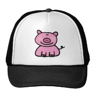 Pink piggy cap