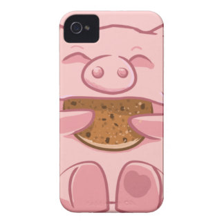 pink piggy eating cookie BlackBerry Bold Case