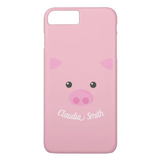 Pink Piggy Face iPhone 8 Plus/7 Plus Case