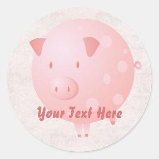 Pink Piggy Stickers