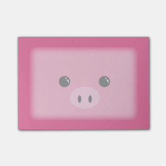 Pink Piglet Cute Animal Face Design Post-it Notes