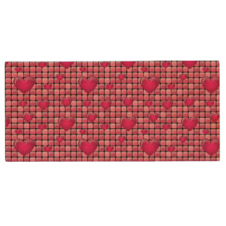 Pink Pile With Hearts Wood USB 2.0 Flash Drive