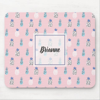 Pink Pineapple Mouse Pad