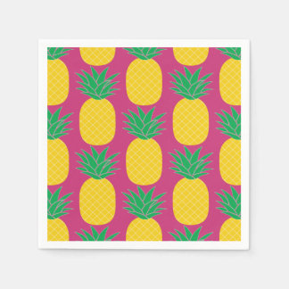 Pink Pineapple Tropical Disposable Napkins