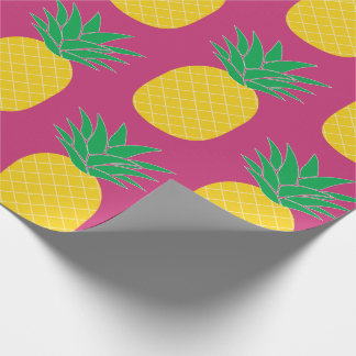 Pink Pineapple Tropical Wrapping Paper