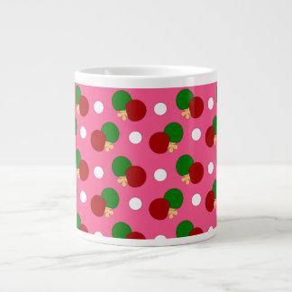 Pink ping pong pattern jumbo mug