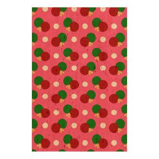 Pink ping pong pattern cork paper