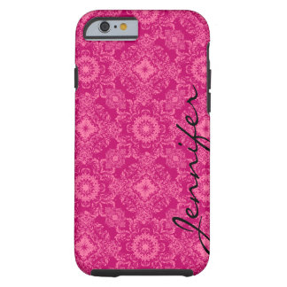 Pink & Pink Floral Damasks & Geometric Shapes Tough iPhone 6 Case