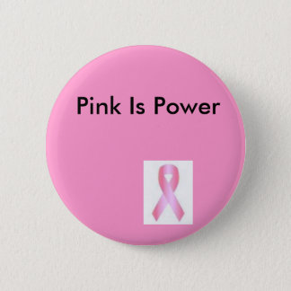 pink, Pink Is Power 6 Cm Round Badge